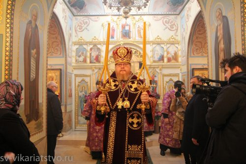 Божественная Литургия в храме Российского государственного социального университета