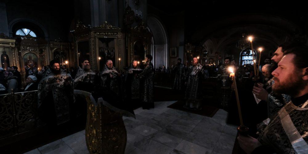 Утреня с чтением Великого канона преподобного Андрея Критского в Богоявленском соборе