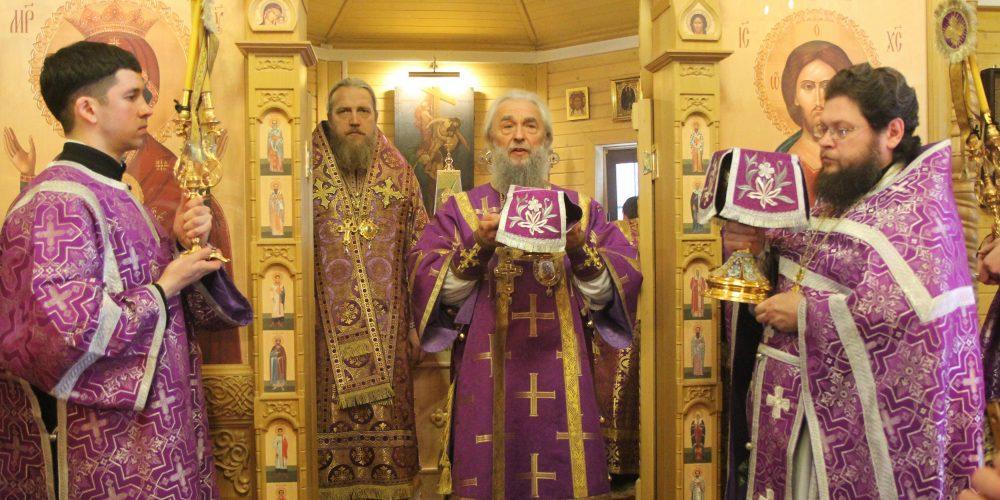 Епископ Иоанн сослужил митрополиту Зиновию в храме иконы Божией Матери «Неупиваемая Чаша» в Ростокине