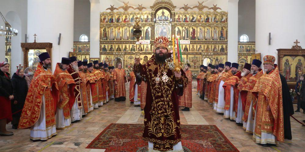 В храме Собора Московских Святых в Бибиреве состоялась соборная Литургия духовенства Северо-Восточного викариатства