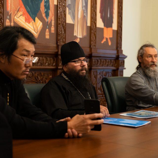 Архиепископ Егорьевский Матфей принял участие в совещании по проектированию храма Успения Пресвятой Богородицы в Москве в ФХУ