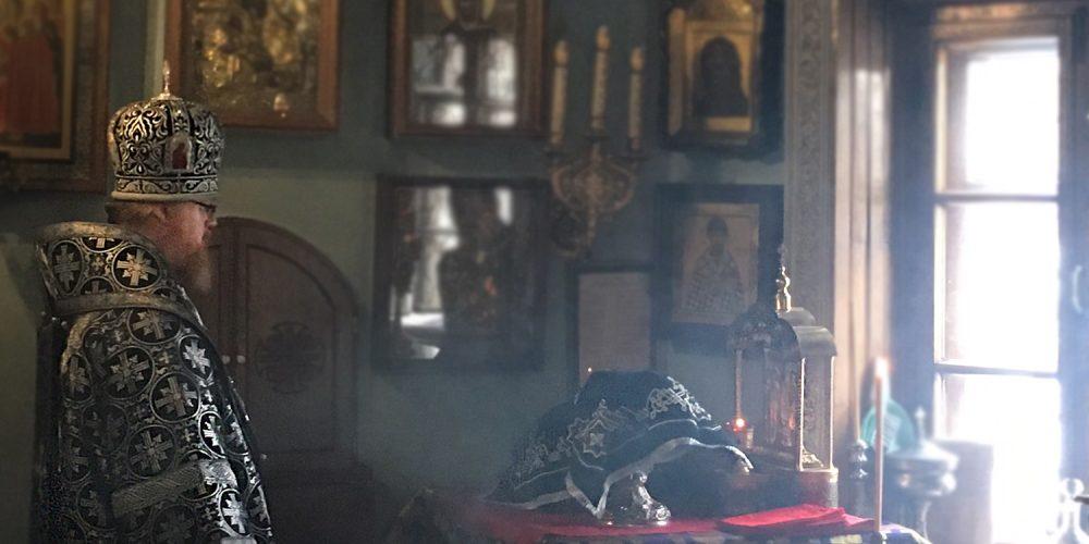 Литургия Преждеосвященных Даров в день монашеского пострига епископа Тихона