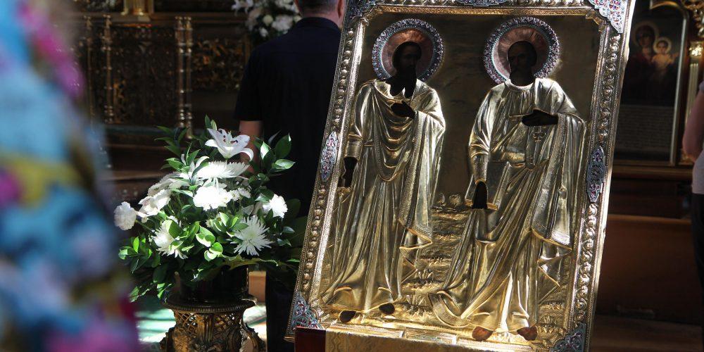 Божественная литургия в день памяти первоверховных апостолов Петра и Павла