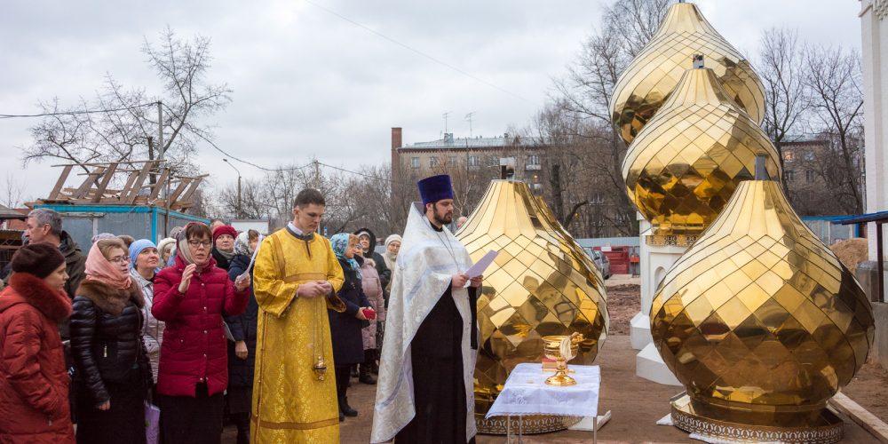 Освящение крестов  для строящегося храма равноапостольной великой княгини Ольги