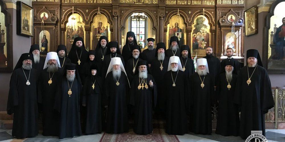 Епископ Подольский Тихон сослужил Патриарху Иерусалима и всей Палестины Феофилу III