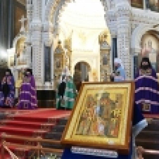 Патриаршая проповедь в праздник Покрова Пресвятой Богородицы после Литургии в Храме Христа Спасителя