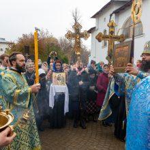 Архиепископ Егорьевский Матфей совершил Божественную литургию в храме Покрова Пресвятой Богородицы в Медведкове.