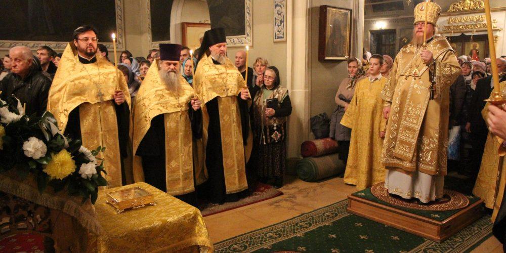 Всенощное бдение в канун дня памяти святителя Николая, архиепископа Мирликийского